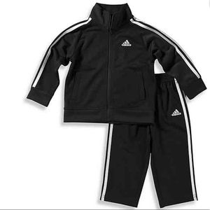 Adidas-Baby Boy Tricot Tracksuit Set in Black